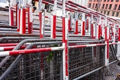 Tłum bariery Zdjęcie Stock