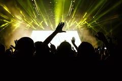 tłum koncertowe sylwetki Zdjęcie Stock