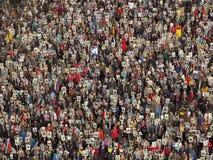 Tłum ludzie demonstruje Obrazy Stock