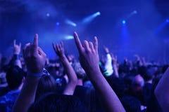 tłum na koncert Zdjęcie Royalty Free