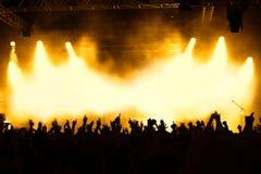 tłum na koncert Zdjęcia Stock
