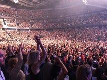 Tłum przy Bruno Mars koncertem Zdjęcie Royalty Free
