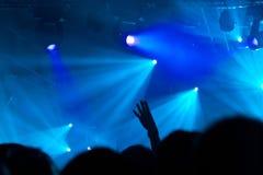 Tłum przy koncertem Zdjęcia Stock