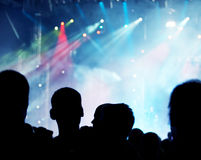 Tłum przy koncertem Zdjęcie Royalty Free