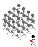 tłumy na stanowisko royalty ilustracja