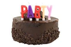 tła urodzinowego torta odosobniony biel Fotografia Royalty Free