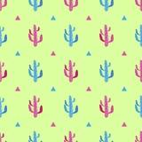Tłustoszowaty kaktusowy bezszwowy wzór Royalty Ilustracja