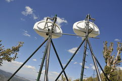 T.V. Antennas on Mtn.Peak Stock Image