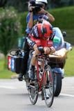 T.VAN GARDEREN (BMC - USA). During the 9 stage of the Tour de France, Arc et Senans-Besançon, July 9 2012 Royalty Free Stock Image