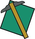 T-vierkante heerser stock illustratie