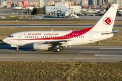 7T-VJQ Air Algerie, Boeing 737-600 Immagini Stock Libere da Diritti