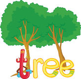 T voor boom stock illustratie