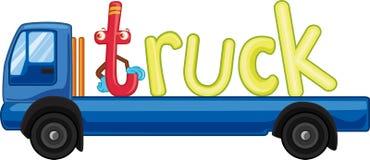 T voor vrachtwagen stock illustratie