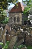 Old Jewish cemetary, Prague, Czech Republic. T was founded at the beginning of the 15th. When it stopped using it in 1787, there was no more room. It has 12,000 stock photos