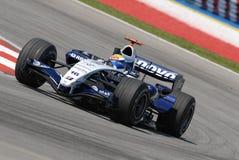 AT&T Williams FW29 Nico Rosber. Nico Rosberg negotiating a turn at Sepang F1 Malaysia 2007 Grand Prix Royalty Free Stock Photos