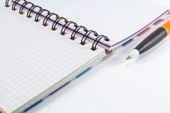 tła wizerunku odosobniony notatnika biel Obrazy Stock
