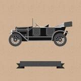 Tła wwith stary samochód Obrazy Royalty Free