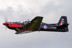 T1 ZF244 Royal Air Force-RAF Short S-312 Tucano vom R.A.F. Linton-auf-Ouse stockfotos