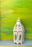 tła zielony lampowy rocznika biel Fotografia Royalty Free