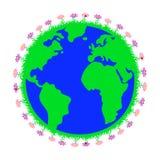 t?a ziemski wizerunek odizolowywaj?cy planety biel ilustracji