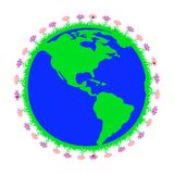 t?a ziemski wizerunek odizolowywaj?cy planety biel royalty ilustracja