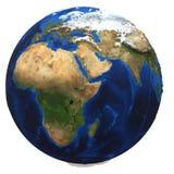 tła ziemskiej kuli ziemskiej odosobniony biel Zdjęcie Stock