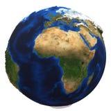 tła ziemskiej kuli ziemskiej odosobniony biel Fotografia Royalty Free
