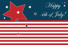 stock image of  4th of july card