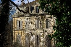 stock image of  abandoned mansion, in which no one has lived for a long time except ghosts