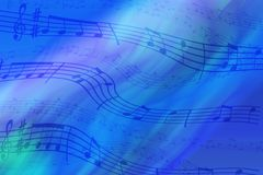 stock image of  abstract colored background on the theme of music. background of wavy and colored stripes. background of stylized musical notes