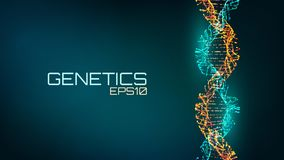 stock image of  abstract fututristic dna helix structure. genetics biology science background. future medical technology.
