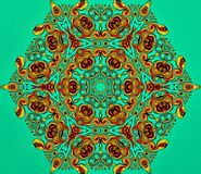 stock image of  abstract geometry of modern art. mystical eastern mandala. floral kaleidoscope traditional design. psychedelic symmetrical backgro