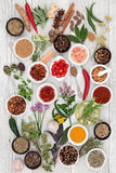 stock image of  abstract herb and spice background
