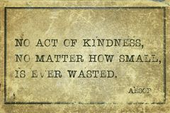 stock image of  act of kindness aesop