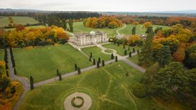 stock image of  aerial view. emo court house. portlaoise. ireland