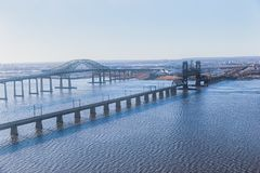 stock image of  new jersey bridges aerial