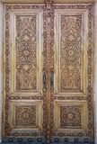 stock image of  eastern wooden door with ornament. islamic ornament