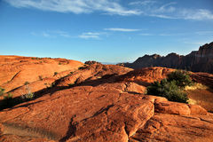 stock image of  the arid landscape of snow canyon state park in utah
