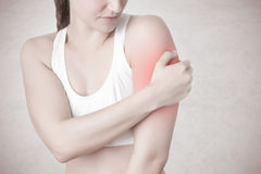 stock image of  arm pain