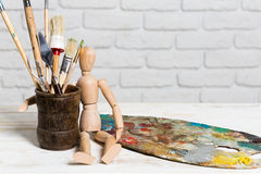 stock image of  art materials