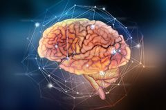 stock image of  artificial neural network. computer intelligence based on the nerve cells of the human brain. modern design concept on the topic o