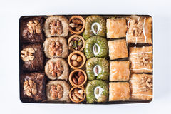 stock image of  assorted baklava desserts