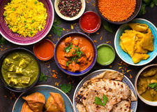 stock image of  assorted indian food