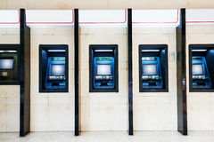 stock image of  atm machine in bank