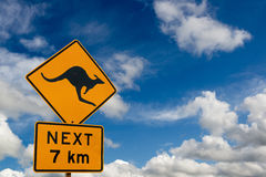 stock image of  attention kangaroo sign