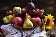 stock image of  autumn fruits still life