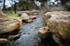 stock image of  babbling rocky brook