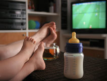stock image of  baby football fan