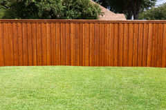stock image of  backyard fence