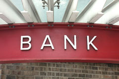 stock image of  bank sign